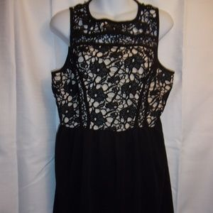 Xhilaration Sz XL Gorgeous Black Lace Midi Dress